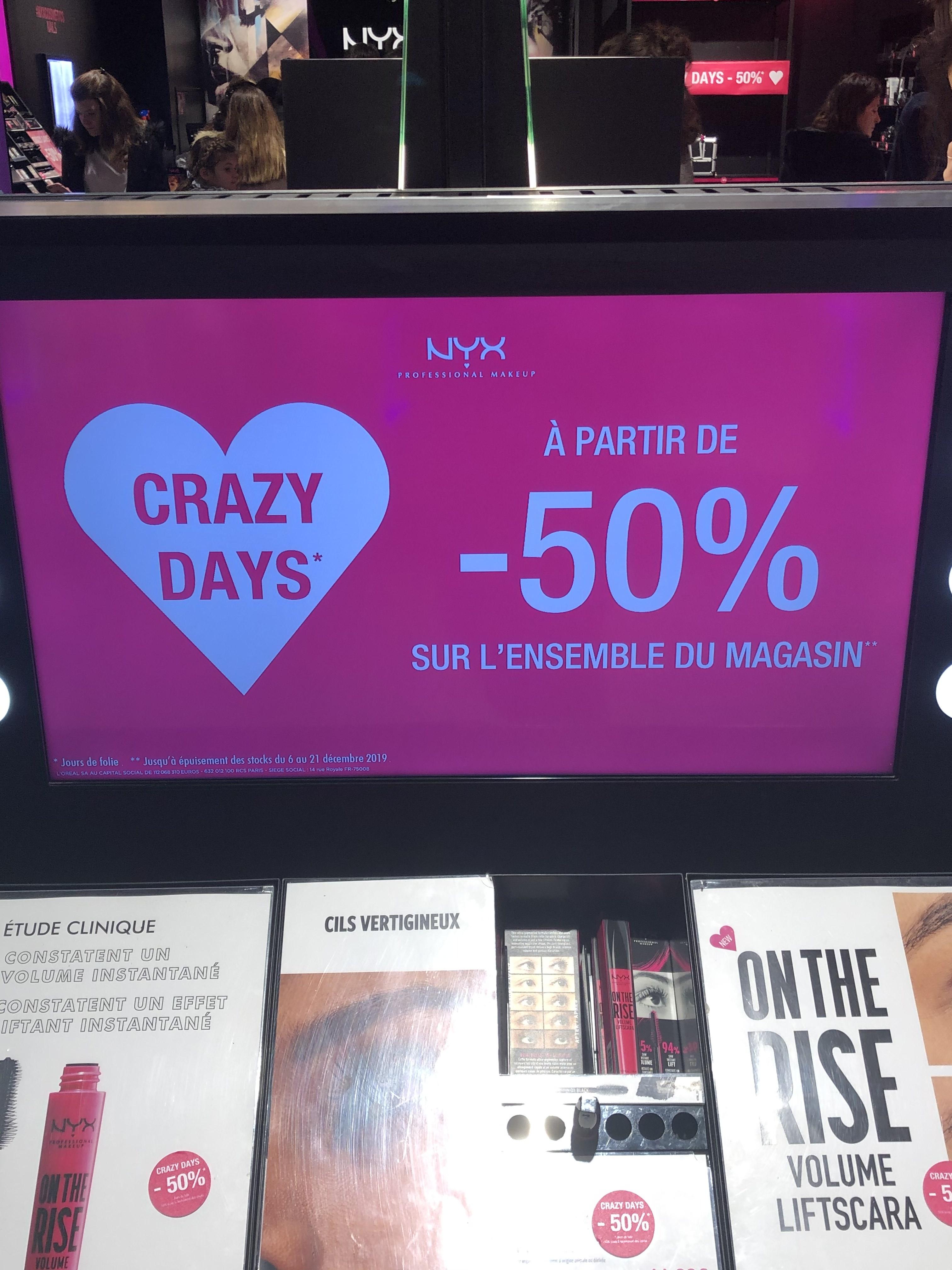 50% de réduction immédiate sur tout le magasin - Paris Beaugrenelle(75)