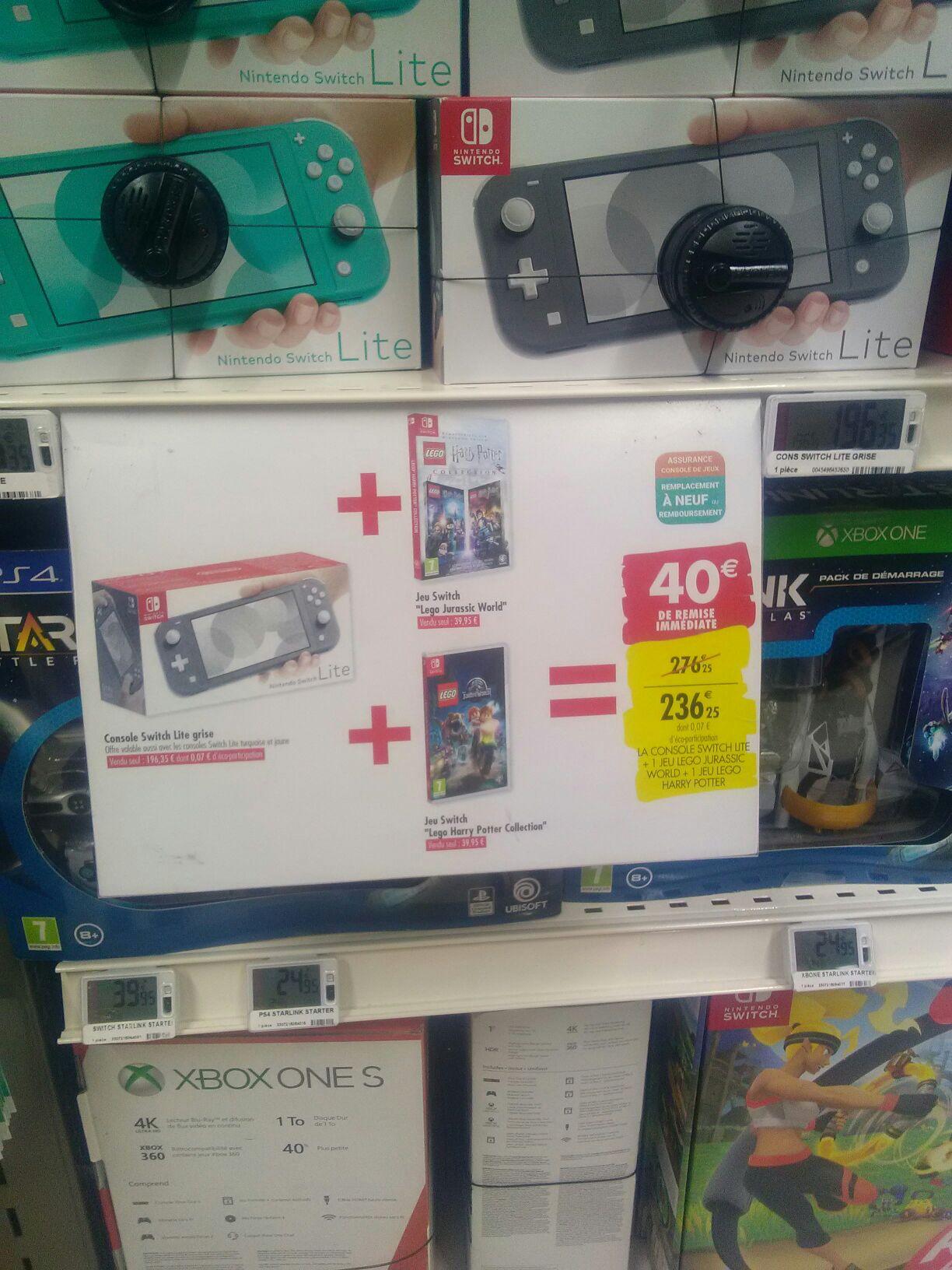 Console Nintendo Switch Lite + Lego Jurassic World + Lego Harry Potter - Uzes(30)