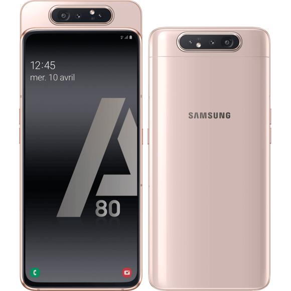 """Smartphone 6.7"""" Samsung Galaxy A80 - 128 Go, Or/Rose (Vendeur Tiers)"""