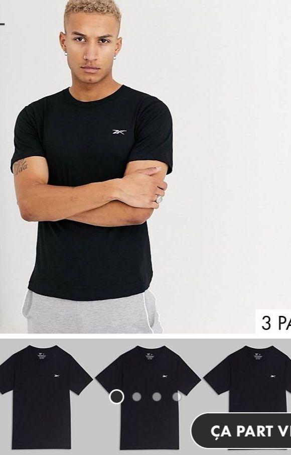 Lot de 3 t-shirts Reebok - Tailles S à XL