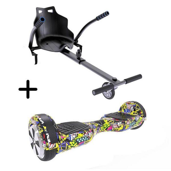 "Pack Hoverboard 6.5"" + Kart UrbanGlide - 15 km/h, 2 x 350 W"