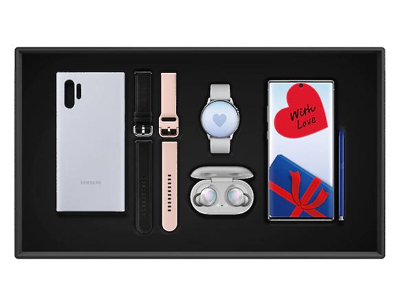 Smartphone Samsung Galaxy Note10 Plus + Galaxy Buds + Galaxy Watch Active 2 + 2 Bracelets + Coque silicone