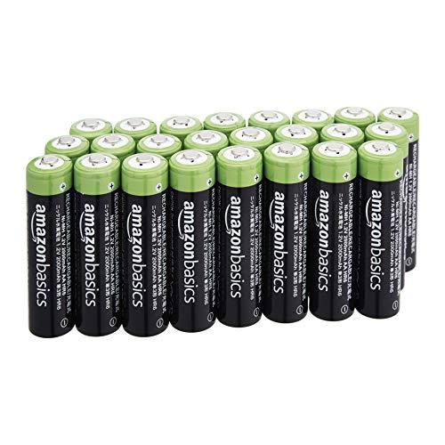 Lot de 24 piles rechargeables AA AmazonBasics - 2000 mAh