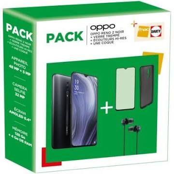 """Smartphone 6.4"""" Oppo Reno Z 128 Go Violet + Verre trempé + Écouteurs filaire Hi-Res + Une coque (279€ avec le code FETES2019)"""
