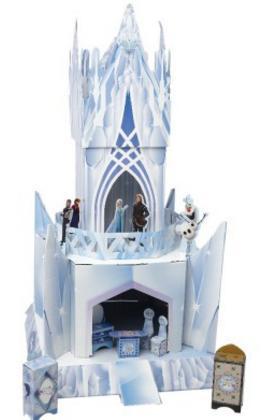 Maison Reine des neiges Frozen Disney en carton