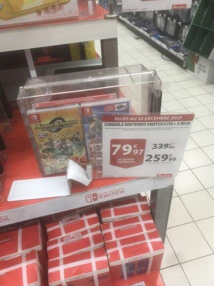 Console Nintendo Switch Lite + 3 jeux - Sarcelles (95)
