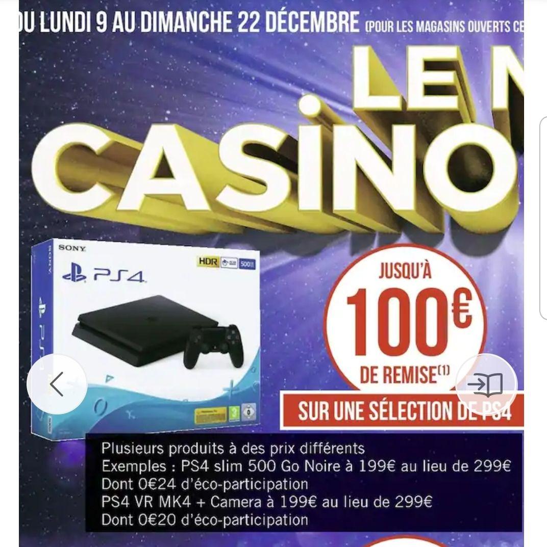 Jusqu'à 100€ de remise immédiate sur une sélection de consoles Sony PS4 - Ex: PS4 Slim 500 Go