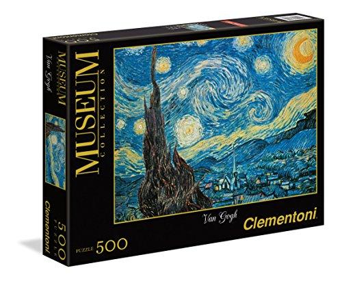Puzzle 500 Pièces Clementoni - La Nuit Etoilée Vincent Van Gogh