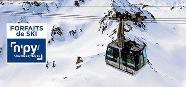 Sélection de forfaits de ski 2 jours dans les stations N'PY en promotion - Ex: Forfaits de ski 2 jours dans la station N'PY Luz Ardiden (65)