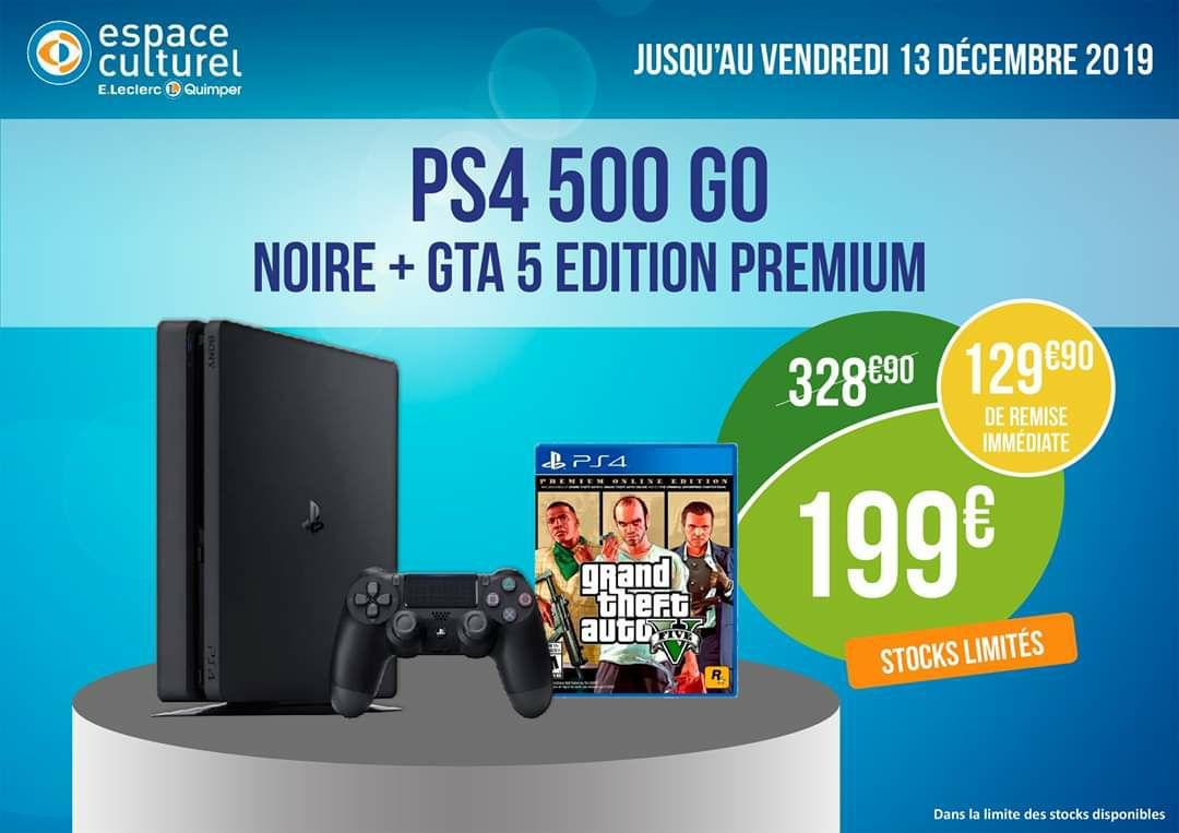 Console Sony PS4 Slim - 500 Go + Grand Theft Auto V Premium Online Edition - Quimper (29)