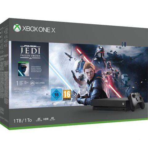 Sélection de packs Console Xbox One X 1To en promotion - Ex : Star Wars Jedi Fallen Order (Dématérialisé)