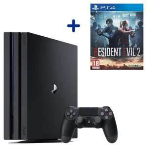 Console Sony PS4 Pro 1 To + Resident Evil 2 Remake