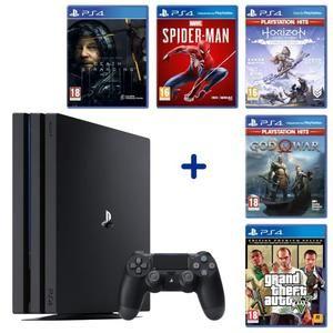 PS4 Pro + Death Stranding + Spider-Man + God of War + Horizon Zero Dawn : Complete Edition + GTA V : Premium Edition