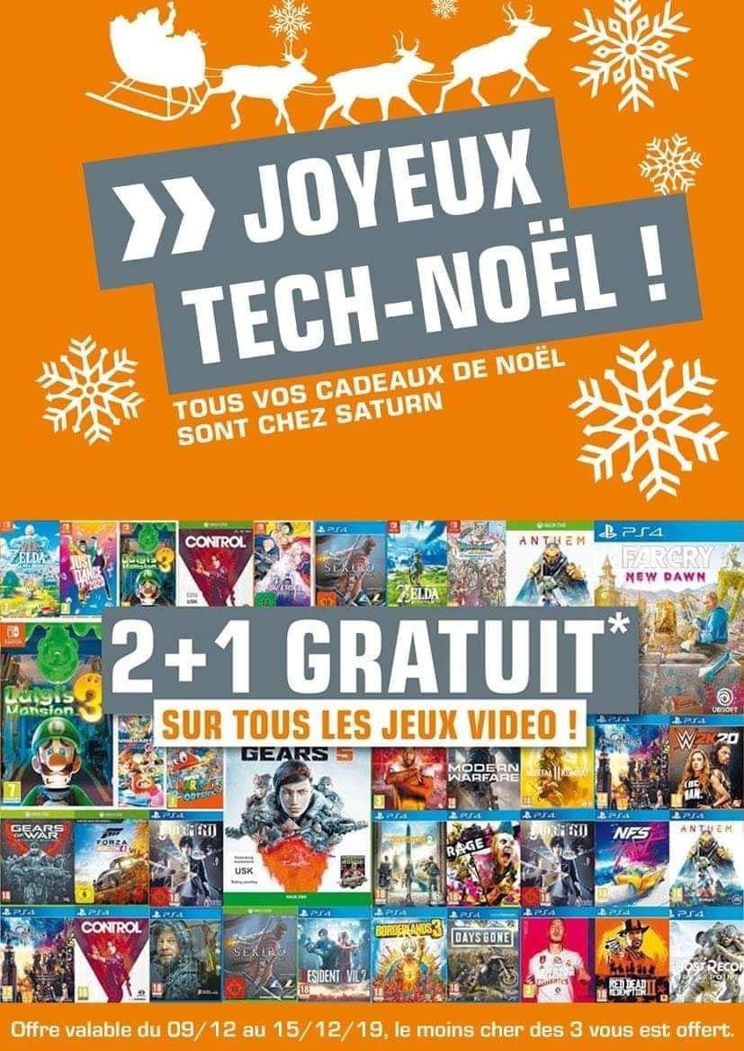 2 jeux vidéo achetés = 1 offert (le moins cher) - frontaliers Luxembourg