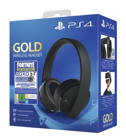 Casque sans fil PS4 - Edition Gold + Voucher Fortnite