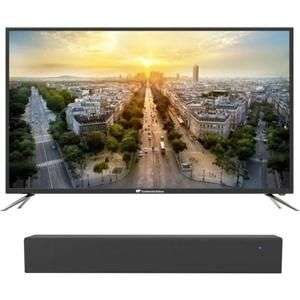 "Pack TV 50"" Continental Edison (4K UHD, LED) + barre de son BDSD40W (40 W RMS)"