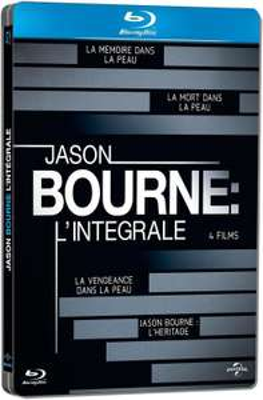 Coffret Blu-ray : Jason Bourne l'Intégrale - Pack Collector boîtier SteelBook