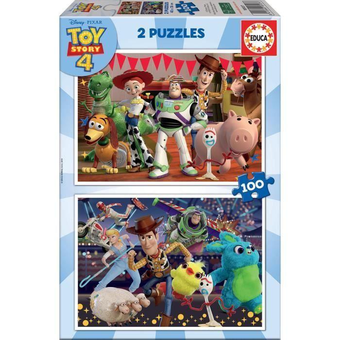Puzzle Educa Toy Story 4 - 2 x 100 pièces