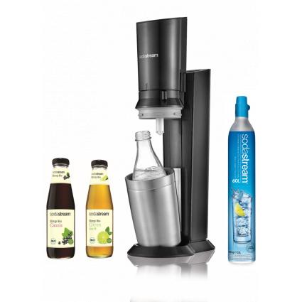 Pack machine SodaStream Crystal + 2 bouteilles de sirop Bio (Via ODR de 20€)