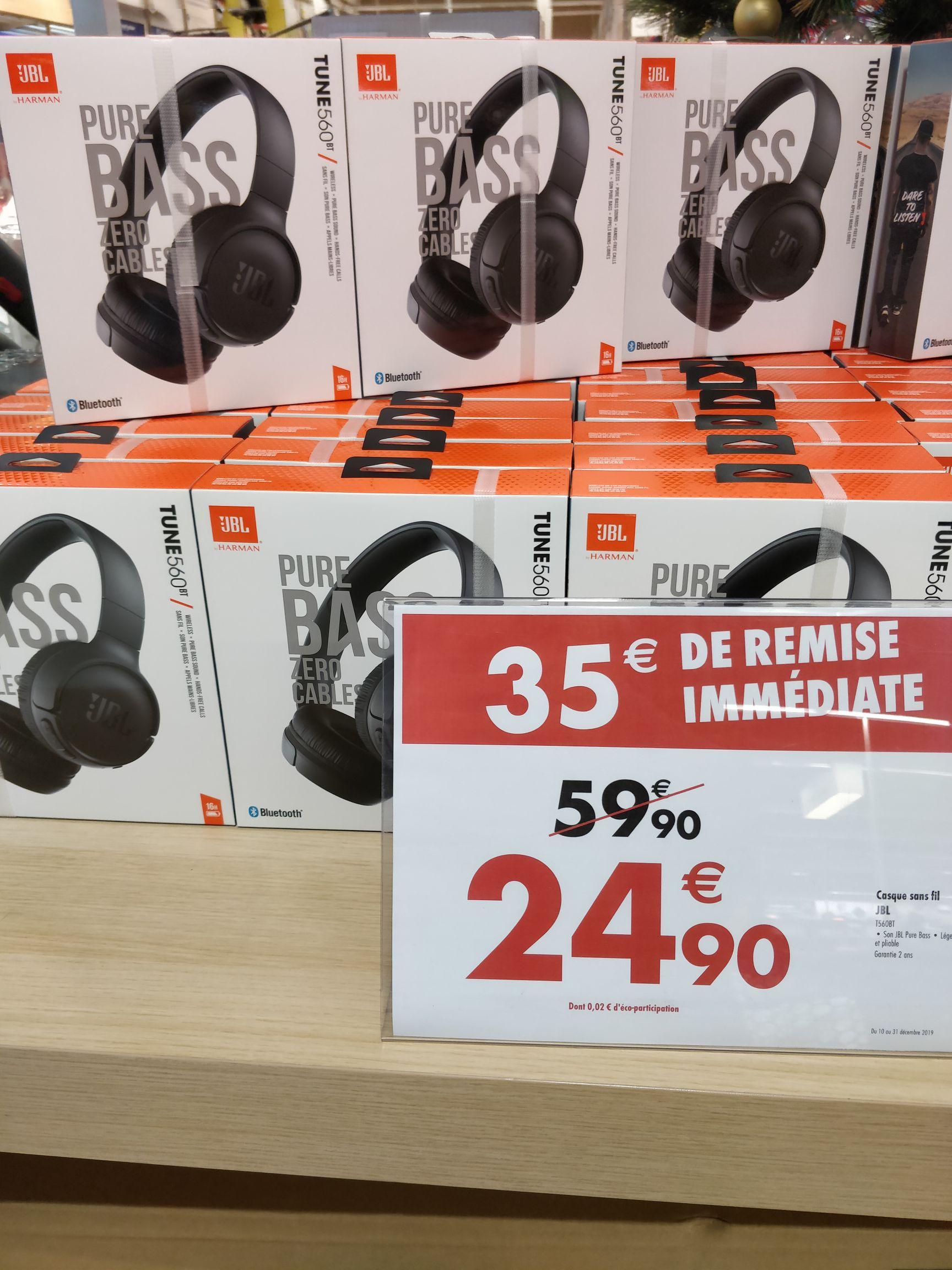 Casque audio sans-fil JBL T560BT - Bluetooth