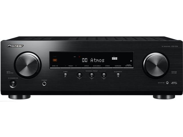 Ampli AV 4K Pioneer VSX-534 - Bluetooth, Dolby Atmos, DTS-X, HDMI2.0