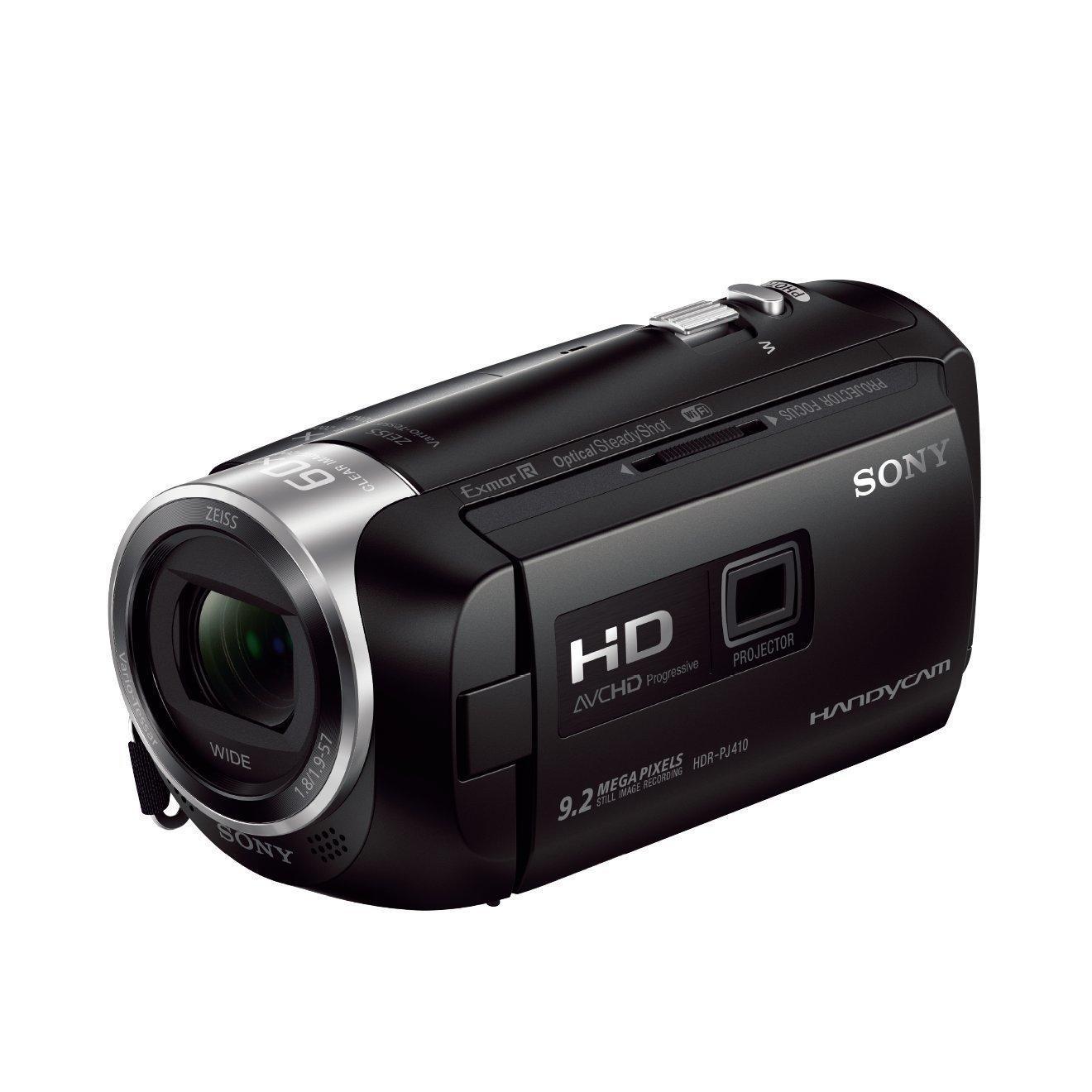 Camescope Sony HDR-PJ410 avec projecteur intégré, 1080p, Zoom optique 30x, 2.51 Mpix (30€  ODR)