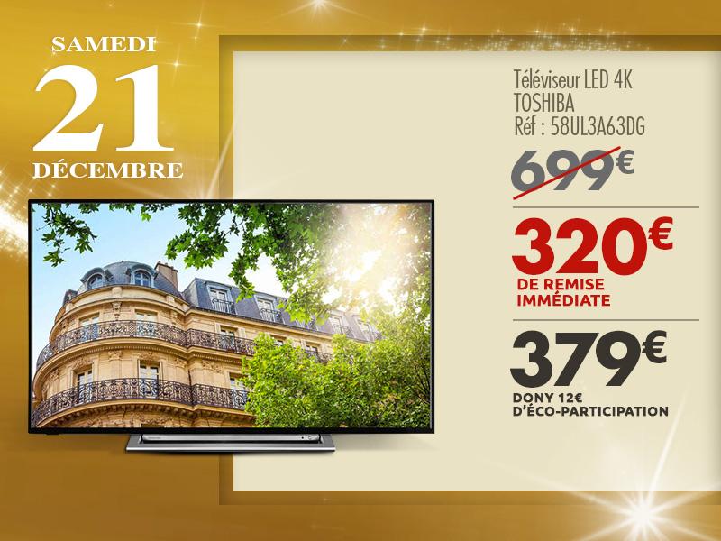 "TV LED 58"" Toshiba 58UL3A63DG - UHD 4K, Smart TV"