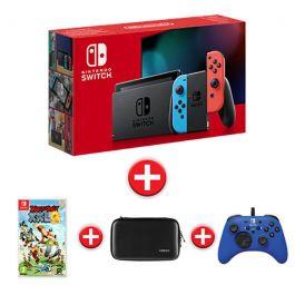 Pack Nintendo Switch 2019 + Astérix XXL 2 + Manette + Housse