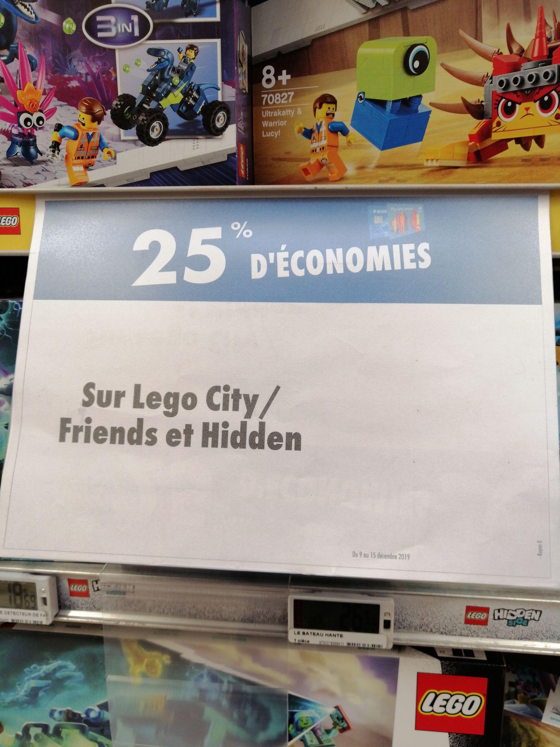 25% de remise fidélité sur la gamme Lego Friends, City et Hidden - Givors (69)