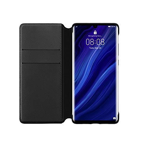 Coque de protection pour smartphone Huawei P30 Pro Wallet Flip Black - Noir