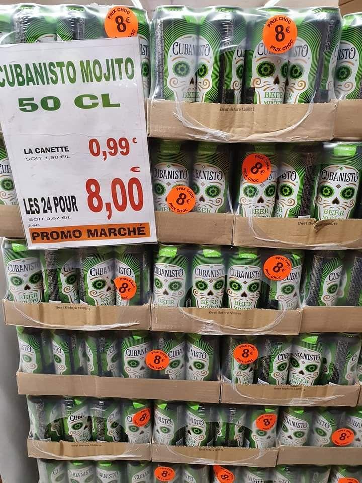 Lot de 24 Canettes Cubanisto Mojito - Promo Marché Reims (51)