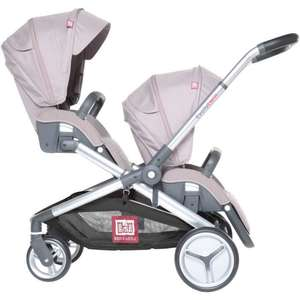 Poussette Double Red Castle Evolutwin - Taupe