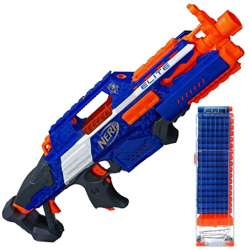 Sélection de pistolets Nerf en  promo - Ex :  Elite Rapidstrike + 93 recharges