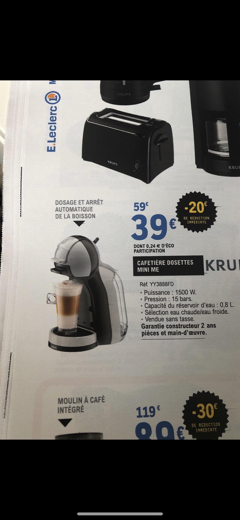 Cafetière Nescafé Dolce gusto Krups Mini Me YY3888FD - Fleury les Aubrais (45)