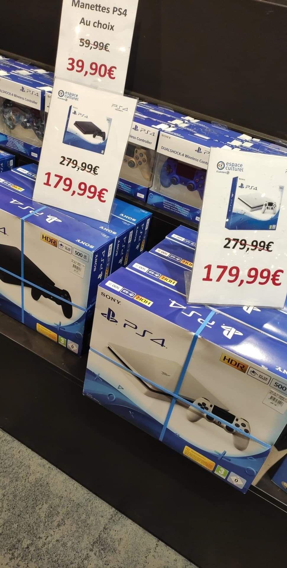 Console Sony PS4 Slim 500 Go (Noire ou Blanche) - Marseille (13009)