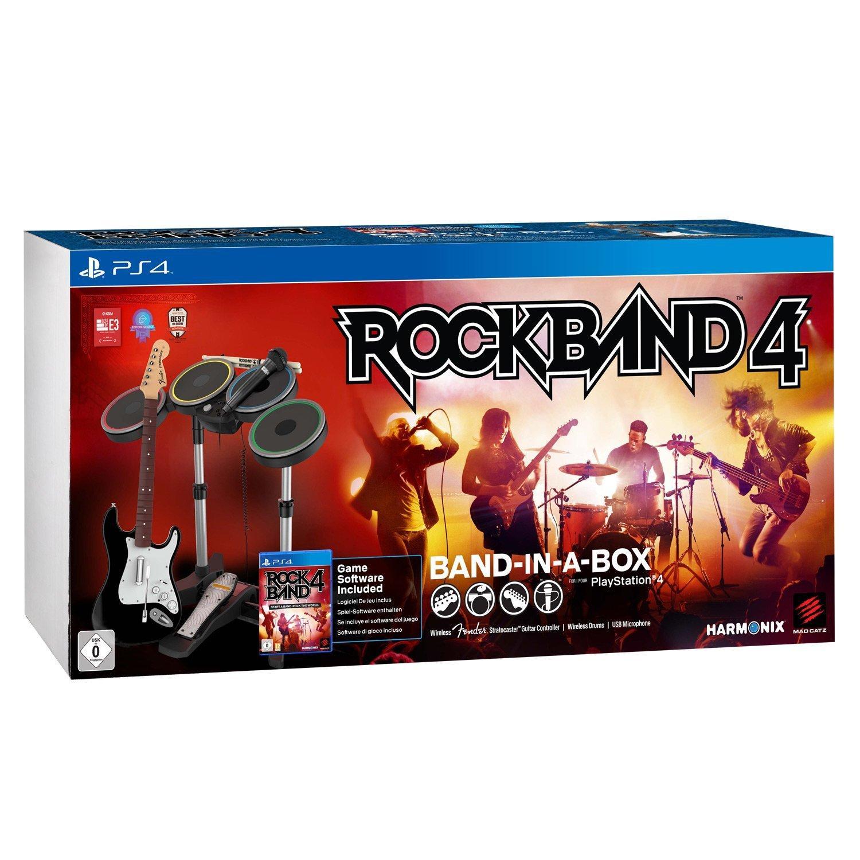 Rockband 4 + Ensemble Band in a Box sur PS4 (Guitare, Micro et Batterie)