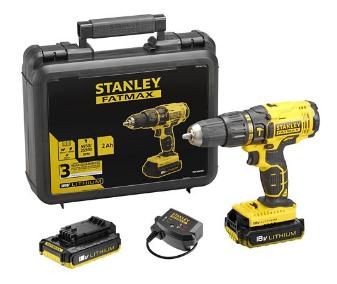 Perceuse à percussion sans fil Stanley Fatmax FMC626D2K18V - Chargeur + 2 blocs batteries + Malette