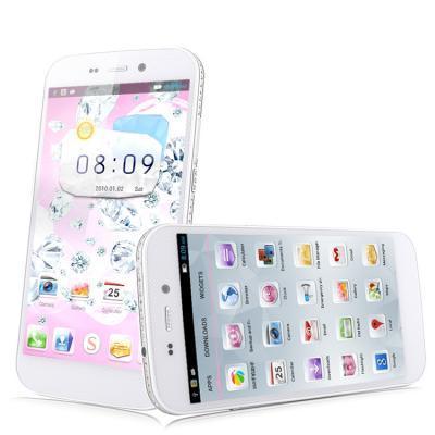 "Smartphone 5"" HTM S129 S35 (Dual SIM, HD, Quad Core 1.3GHz, RAM 1 Go, ROM 4 Go, 3G) Blanc"