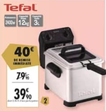 Friteuse électrique Tefal Filtra Pro FR500070 - 2400 W, 3 L