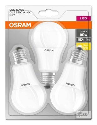 Lot de 3 ampoules Osram - 13 W, E27 (+2.5€ sur la carte fidélité)