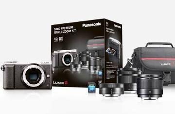 Pack Appareil Photo Hybride Panasonic Lumix GX9 + 3 Objectifs (12-32 mm f/3.5-5.6 + 35-100 mm f/4.0-5.6 + 25 mm f/1.7) + SD + Sac