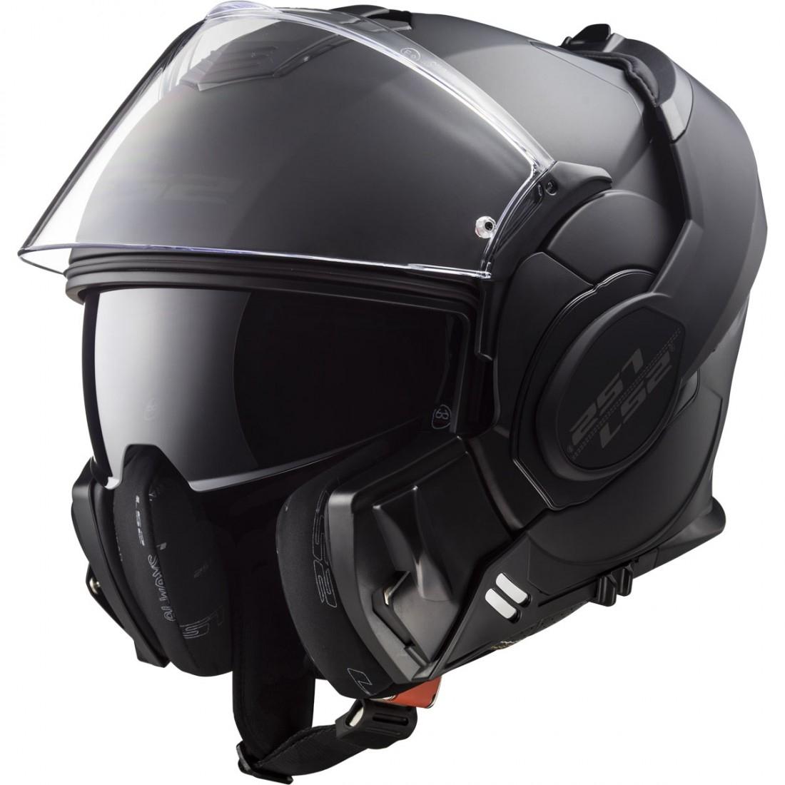 Casque moto modulable LS2 FF399 Valiant - Noir mat (Taille L)