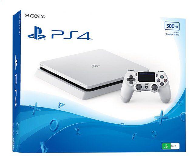 Console Sony PS4 Slim (500 Go) - Blanc (Frontaliers Belgique)