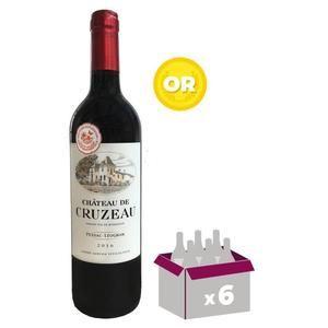 6 Bouteilles de Vin Château de Cruzeau 2016 Pessac-Léognan
