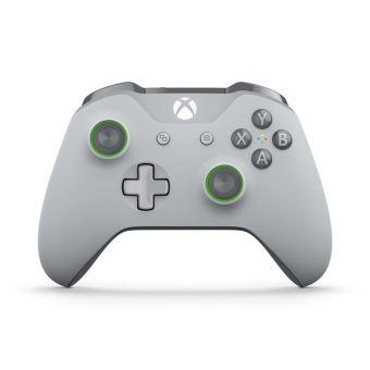 Manette Sans-fil Microsoft Xbox One Grise et Verte + Chaussette de Noël Xbox