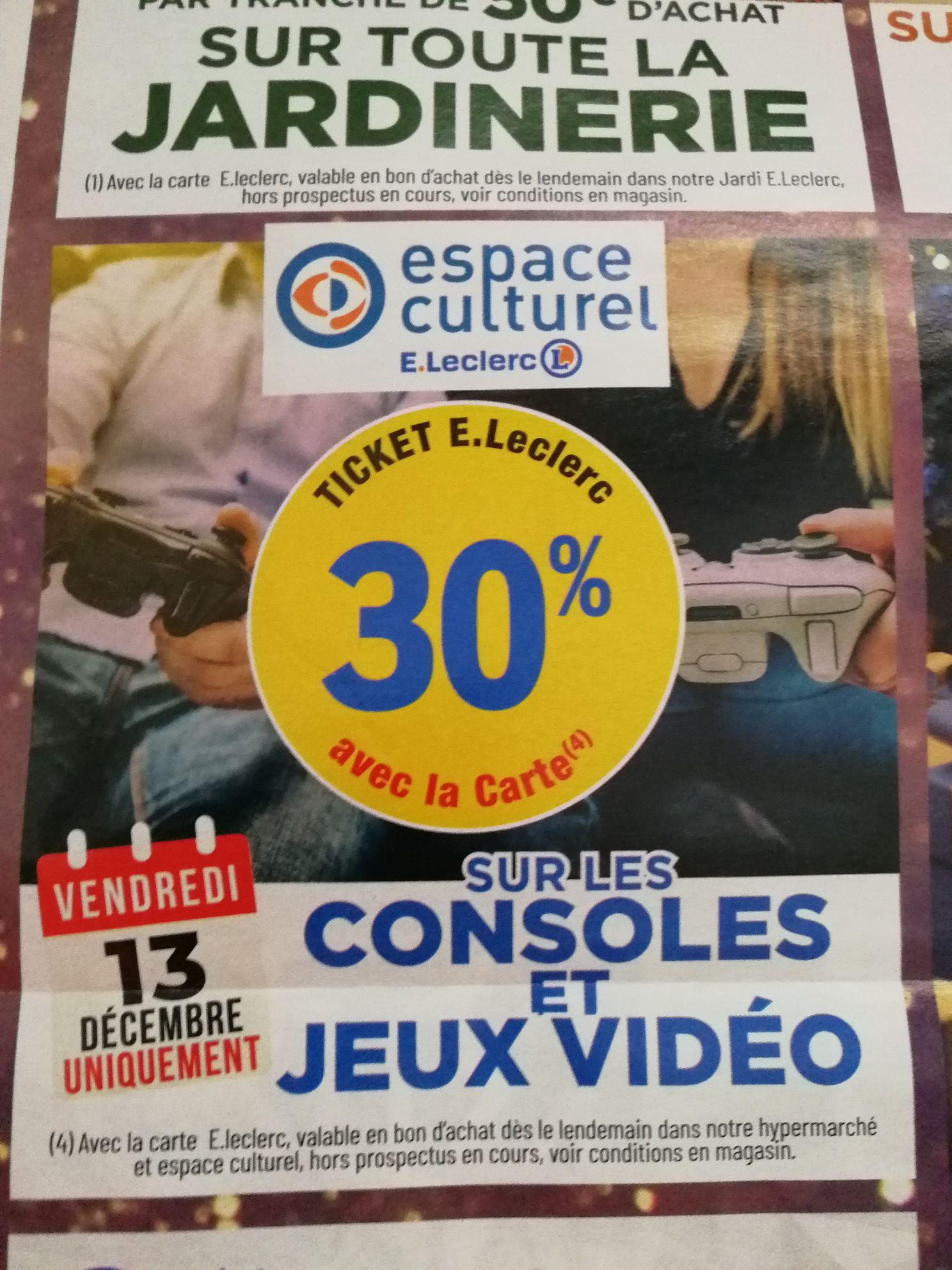 30% remboursés sur le compte fidélité dans le rayon Jeux vidéo et Consoles - Saint-Étienne-du-Rouvray (76)