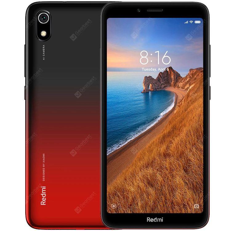 """Smartphone 5.45"""" Xiaomi Redmi 7A (Rouge) - 2 Go de RAM, 32 Go de ROM"""