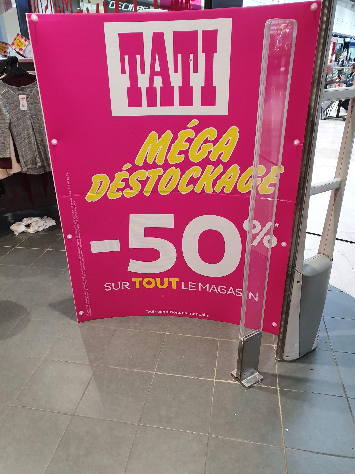 50% de réduction sur le tout le magasin - Argenteuil (95)