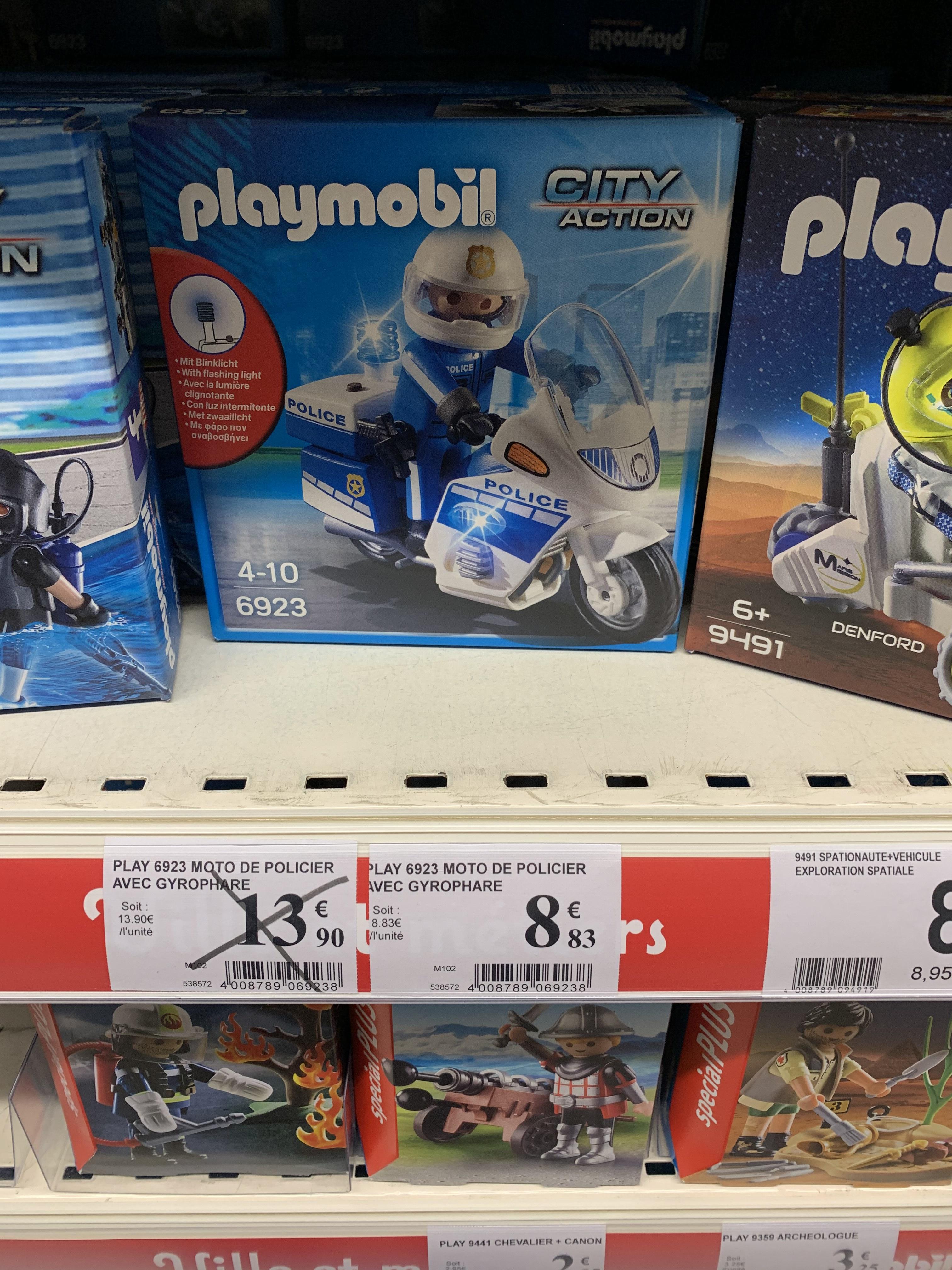 Playmobil 6923 - Moto Police avec Gyrophare - Centre Commercial Meriadeck Bordeaux (33)