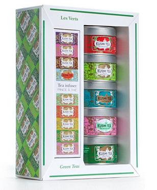 Les Verts : Coffret de 5 miniatures de thés en vrac + un infuseur - 125g (5x25g)